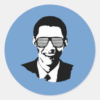 Gafas de sol de Barack Obama Etiqueta Redonda