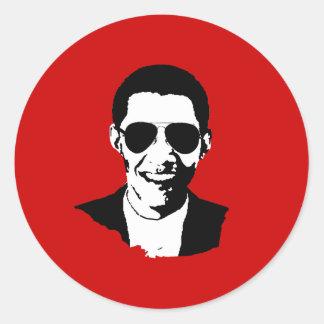 Gafas de sol de Barack Obama Pegatina Redonda