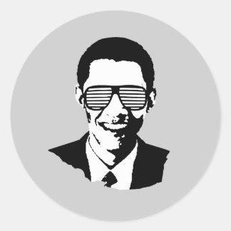 Gafas de sol de Barack Obama Pegatinas Redondas