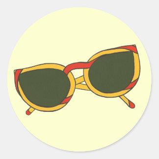 Gafas de sol de la diversión en amarillo y rojo en