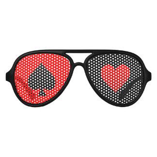 gafas de sol de la espada de la noche del póker y lentes de fiesta
