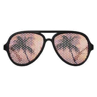 Gafas de sol de la puesta del sol de la palmera lentes de fiesta