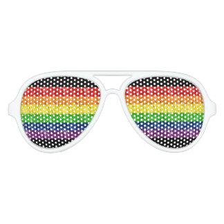 Gafas de sol del arco iris del orgullo gay lentes de fiesta