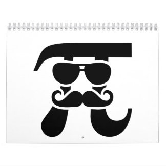 Gafas de sol del bigote del pi calendario de pared