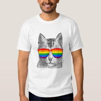 Gafas de sol del orgullo del gato polera