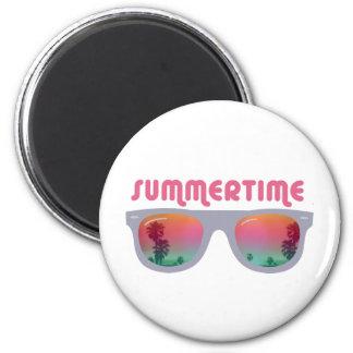 Gafas de sol del verano imán redondo 5 cm