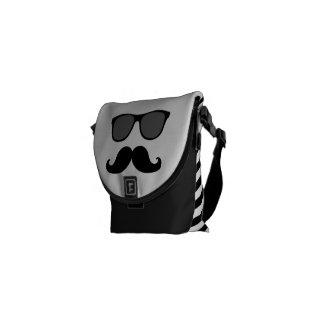 Gafas de sol divertidas con disfraz del bigote bolsas de mensajería