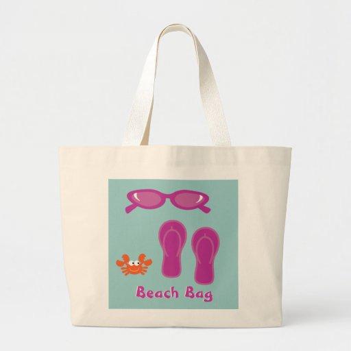 Gafas de sol, flips-flopes y bolso de la playa del bolsa de tela grande