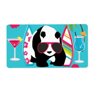 Gafas de sol frescas de panda del oso del vago div etiquetas de envío