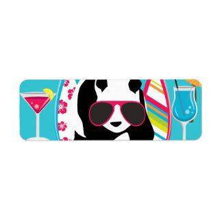 Gafas de sol frescas de panda del oso del vago div etiqueta de remite