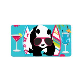 Gafas de sol frescas de panda del oso del vago div etiqueta de dirección