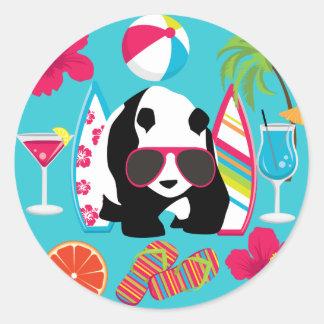 Gafas de sol frescas de panda del oso del vago div pegatinas