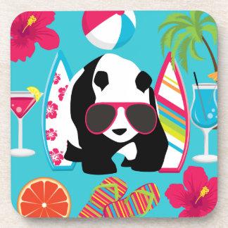 Gafas de sol frescas de panda del oso del vago div posavasos de bebida