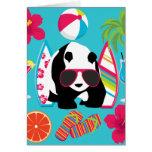 Gafas de sol frescas de panda del oso del vago div tarjetas