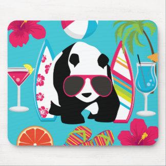 Gafas de sol frescas de panda del oso del vago mousepads