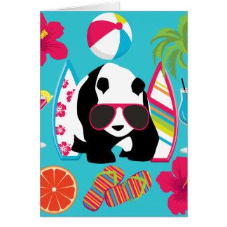 Gafas de sol frescas de panda del oso del vago tarjeta de felicitación