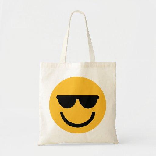 Gafas de sol frescas sonrientes bolsas