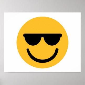 Gafas de sol frescas sonrientes póster