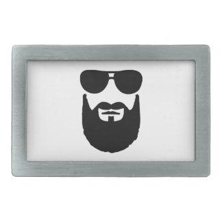 Gafas de sol llenas de la barba hebillas de cinturón rectangulares