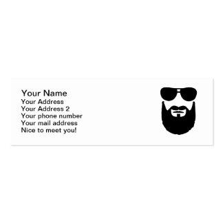 Gafas de sol llenas de la barba tarjetas de visita mini