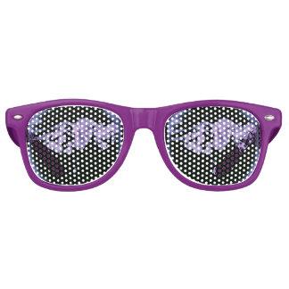 Gafas de sol púrpuras de los corazones de la noche lentes de fiesta