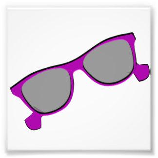 Gafas de sol púrpuras arte fotografico