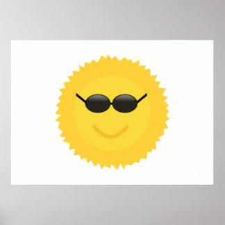Gafas de sol que llevan de Sun Poster