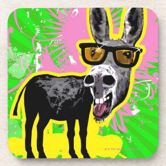 Gafas de sol que llevan del burro posavasos de bebidas