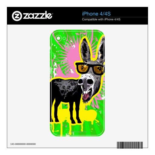 Gafas de sol que llevan del burro calcomanía para el iPhone 4S