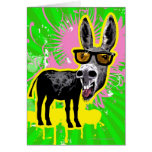 Gafas de sol que llevan del burro tarjeta