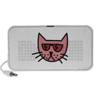 Gafas de sol que llevan del gato del dibujo animad mini altavoces