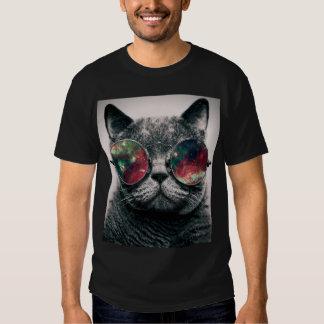 gafas de sol que llevan del gato playeras