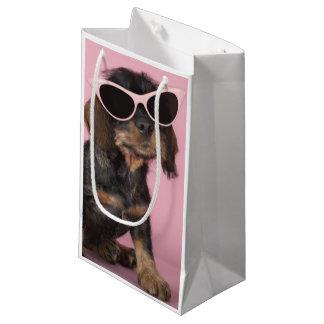 Gafas de sol que llevan del perrito del Dachshund Bolsa De Regalo Pequeña