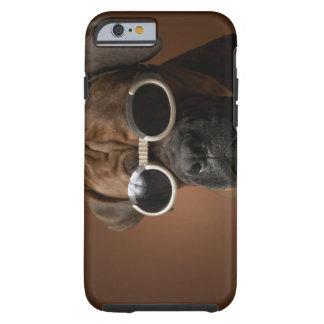 Gafas de sol que llevan del perro funda para iPhone 6 tough