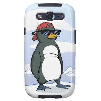 Gafas de sol que llevan del pingüino fresco samsung galaxy s3 fundas