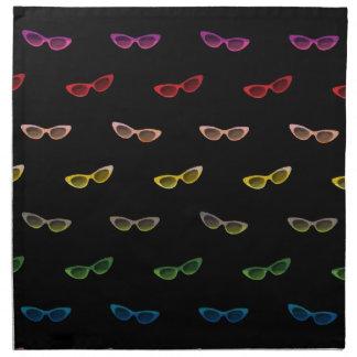 Gafas de sol retras del arco iris servilleta de papel