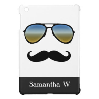 Gafas de sol retras divertidas con el bigote iPad mini cárcasa