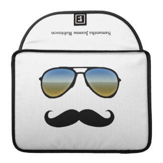 Gafas de sol retras divertidas con el bigote fundas para macbook pro