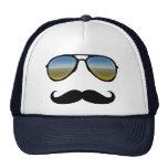 Gafas de sol retras divertidas con el bigote gorra