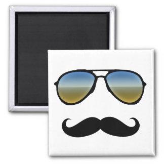 Gafas de sol retras divertidas con el bigote imanes para frigoríficos
