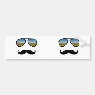 Gafas de sol retras divertidas con el bigote pegatina para auto