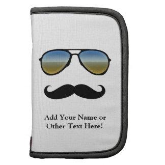Gafas de sol retras divertidas con el bigote planificadores