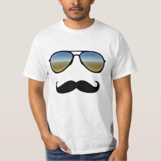 Gafas de sol retras divertidas con el bigote remeras