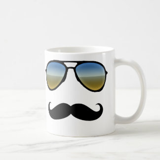 Gafas de sol retras divertidas con el bigote taza