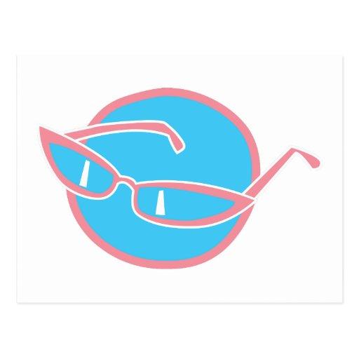 gafas de sol retras postales