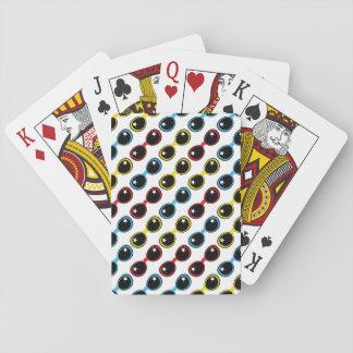 Gafas de sol retras primarias baraja de cartas