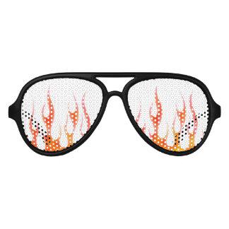 gafas de sol rojas del fiesta de la llama