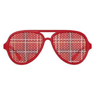 Gafas de sol rojas del fiesta del tartán