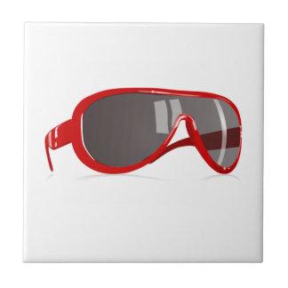 Gafas de sol rojas teja  ceramica