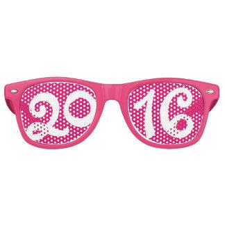 Gafas de sol rosadas de Noche Vieja de las mujeres Lentes De Sol